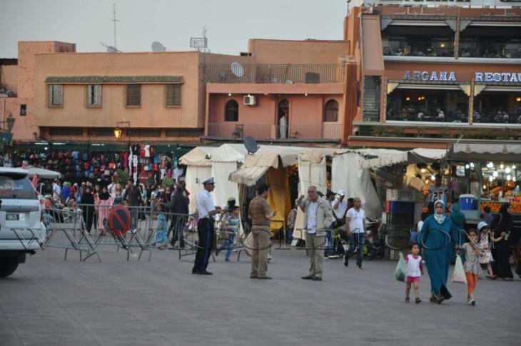 حصري: والي أمن مراكش سعيد العلوة يتفقد ساحة جامع الفنا وهذه هي الأماكن التي زارها + صورة