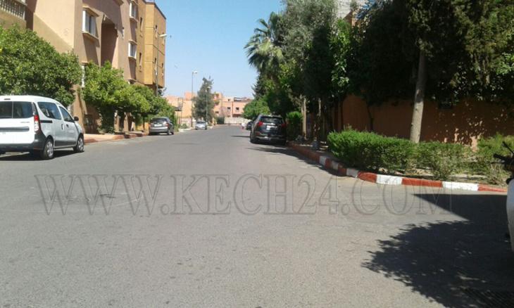سيارة خفيفة تدهس شخصين بحي امرشيش بمراكش ومواطن يمنع صاحبتها من الفرار + صور