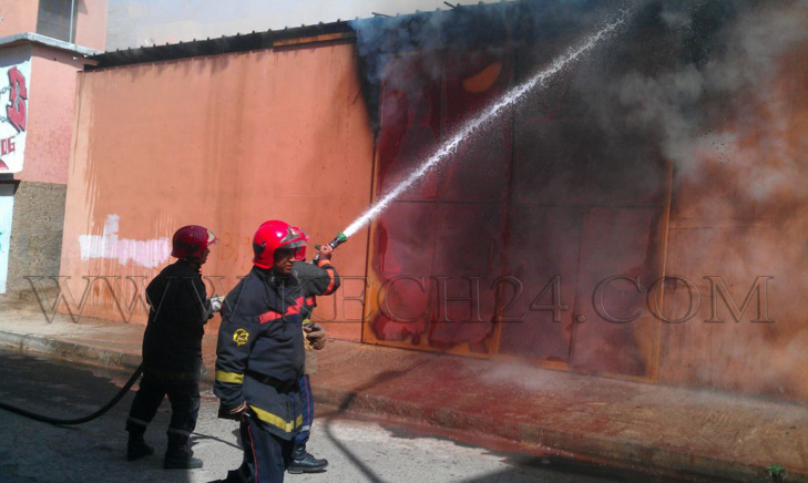 عاجل: إندلاع حريق في حمام شعبي بمقاطعة مراكش المنارة + صور