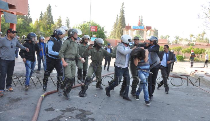 قاضي التحقيق بجنايات مراكش يستنطق الطلبة الثلاثة عشر المعتقلين على خلفية أحداث الحي الجامعي