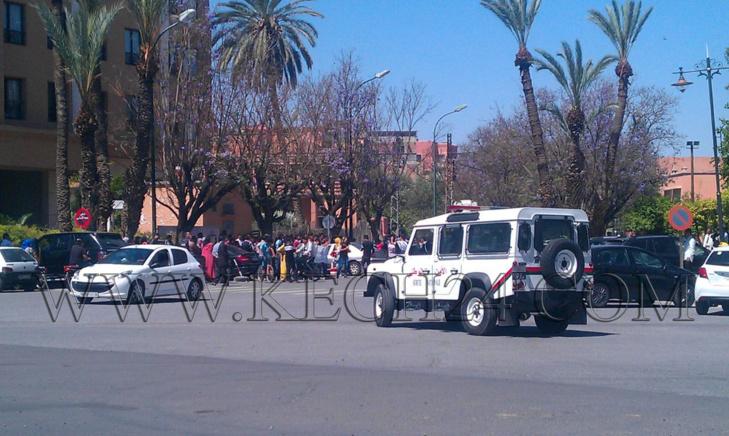 عاجل: احتجاجات بالموازاة مع مثول 13 طالبا أمام قاضي التحقيق وسط تطويق أمني مكثف لاستئنافية مراكش
