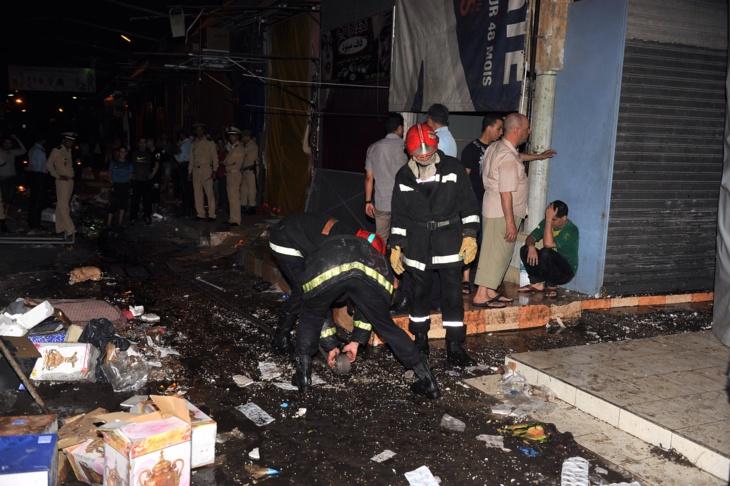 حريق ضخم يلتهم محلات تجارية بسوق القريعة بالبيضاء