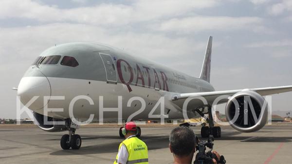 عاجل: وصول أولى طائرات الخطوط القطرية إلى مطار مراكش المنارة + صور
