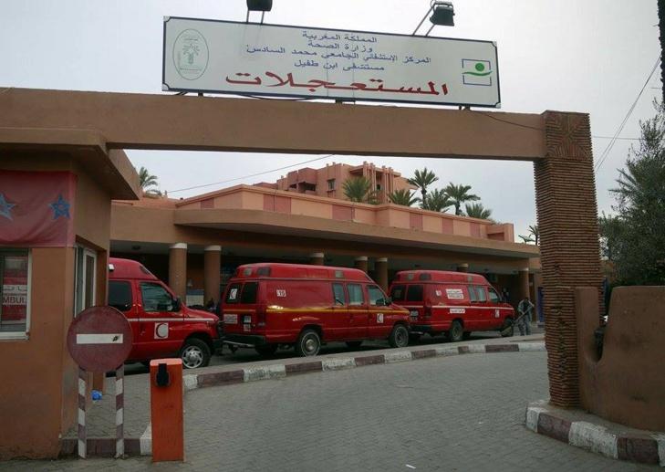خطير: نقل شاب في حالة حرجة لمستعجلات مراكش بعد شق رأسه بسبب سيجارة