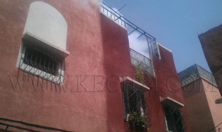 عاجل: إندلاع حريق بمنزل بحي باب دكالة بمراكش + صور