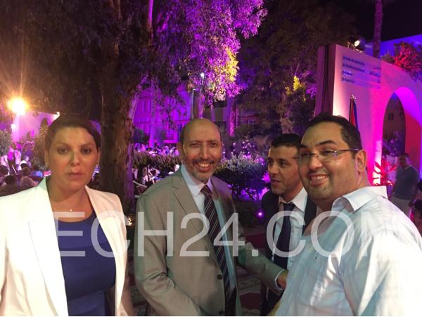بعد غياب طويل العمدة السابقة فاطمة الزهراء المنصوري تحضر احتفال القنصلية الفرنسية بمراكش