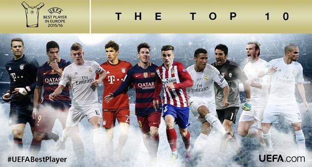 هذه لائحة اللاعبين الـ 10 المرشحين لجائزة أفضل لاعب في أوروبا