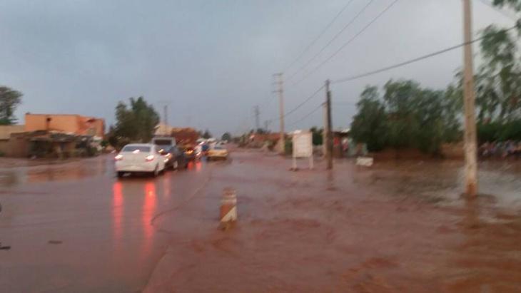 عاجل: سيول الأمطار تقطع طريق أوريكا نواحي مراكش + صورة