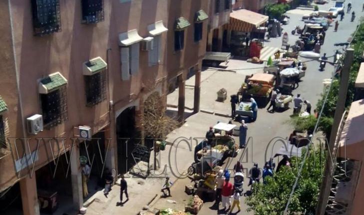 سوق عشوائي بحي المحاميد بمراكش يؤرق الساكنة مند ازيد من سبع سنوات + صور