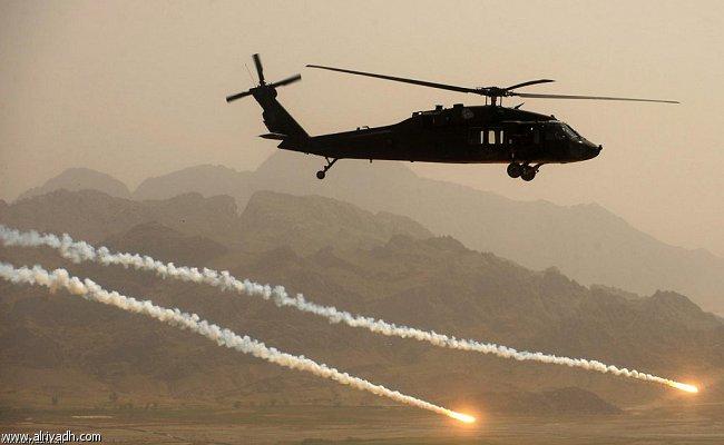 مصرع طيارين سعوديين بعد سقوط طائرة عمودية بسبب سوء الأحوال الجوية