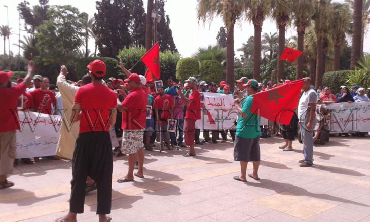 وقفة احتجاجية حاشدة للإتحاد العام الديمقراطي للشغالين بالمغرب ضد عمدة مراكش + صور
