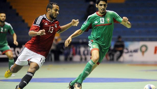 المنتخب الوطني لكرة القدم داخل القاعة يفوز على المنتخب المصري