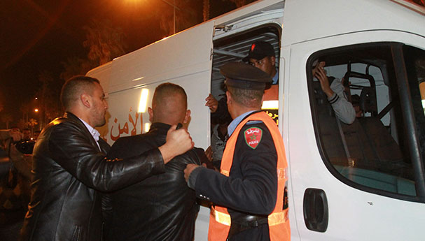 اعتقال شخص كسر زجاج سيارات وروع شارع الداخلة بمراكش