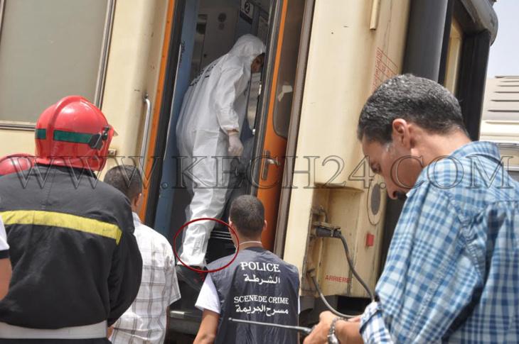 هذه هي الحقيبة الحقيقية التي عثر بها على جثة فتاة مقتولة داخل قطار بمراكش + صورة