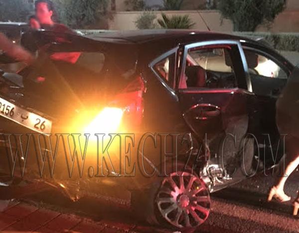 بالصور: حادثة سير خطيرة بشارع محمد السادس بمراكش