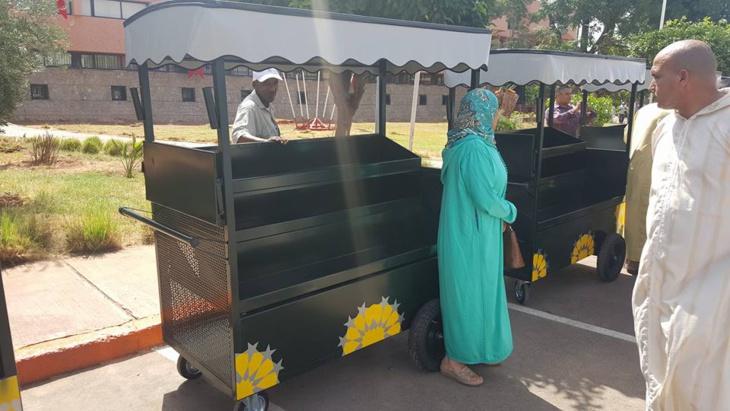 عمدة مراكش يعطي انطلاقة عملية تنظيم الباعة الجائلين بالمدينة + صور