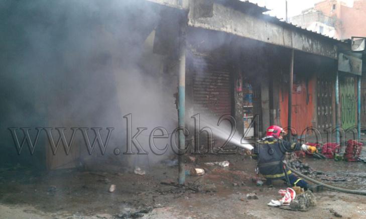 عاجل: اندلاع النيران بدكان