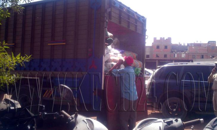 عاجل: حجز عشرة أطنان من الأكياس البلاستيكية بحي القصبة بمراكش + صورة