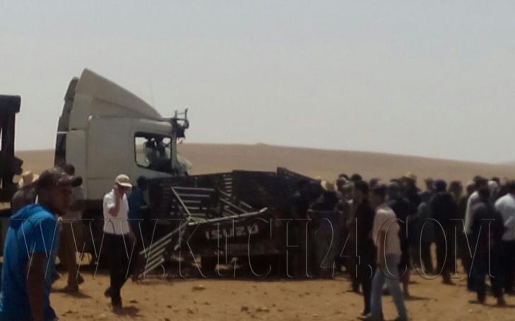 عاجل: مصرع شخصين في حادثة سير مروعة ضواحي مراكش + صور