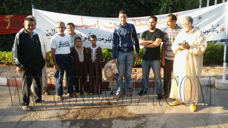 ذبح اضحية العيد باسم كافة عمال وعاملات فندق إيسيل بمراكش بعدما تم تشريدهم + صورة