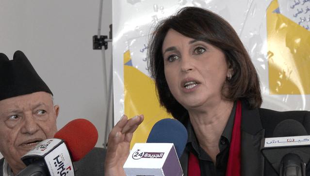 نبيلة منيب الأمينة العامة للإشتراكي الموحد تدشن حملة فدرالية اليسار الديمقراطي من مراكش