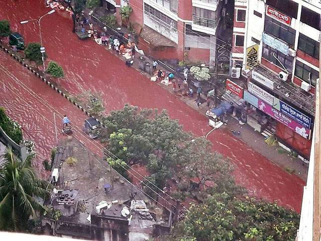 عيد الأضحى يغرق مدينة كاملة تغرق في أنهار من الدماء..!