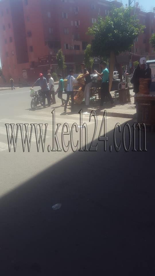 السلطة المحلية تشن حملة لتحرير الملك العام بحي المسيرة بمراكش + صور