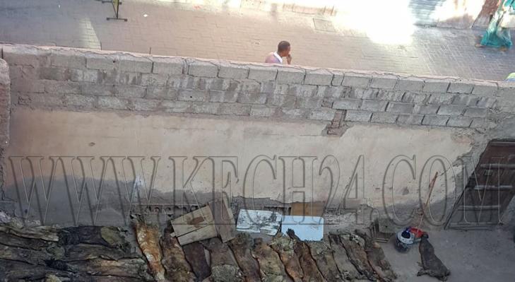 حصري: سلطات مراكش تخلي الزاوية الحمدوشية من جلود الأضاحي المتعفنة بعد مقال