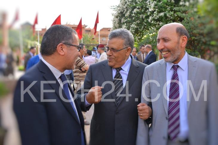 الوالي لبجيوي ووزير الداخلية يتفقدان ليلا حدائق مراكش بمناسبة الزيارة الملكية