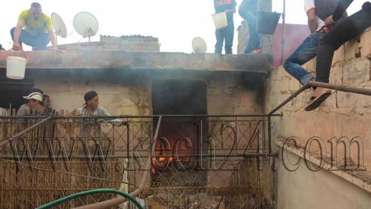 عاجل: اندلاع النيران بمنزل بالمدينة العتيقة لمراكش + صور