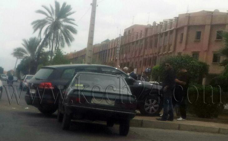 إصطدام بين سيارة رباعية الدفع وسيارة خفيفة بحي سيدي مبارك بمراكش + صورة