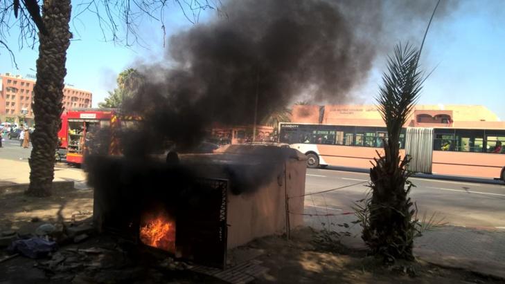 اندلاع النيران في مولد كهربائي بباب دكالة بمراكش + صور