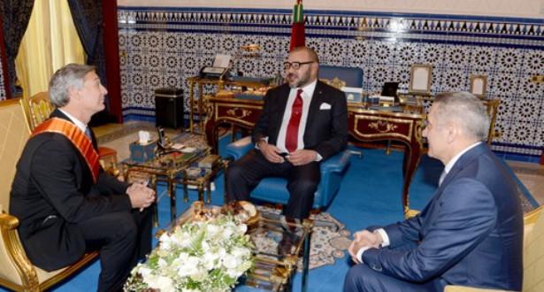 الملك محمد السادس يستقبل رئيس