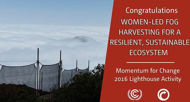 مشروع حصاد مياه الضباب المغربي يحصل على جائزة أممية