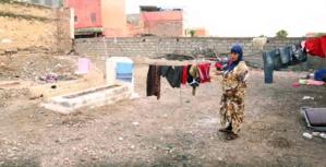 الجمعية المغربية لحقوق الإنسان تدخل على خط معاناة الأسرة التي تعيش في مقبرة بمراكش