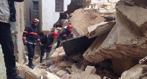 انهيار واجهة منزل مكون من طابقين بالمدينة العتيقة بسلا