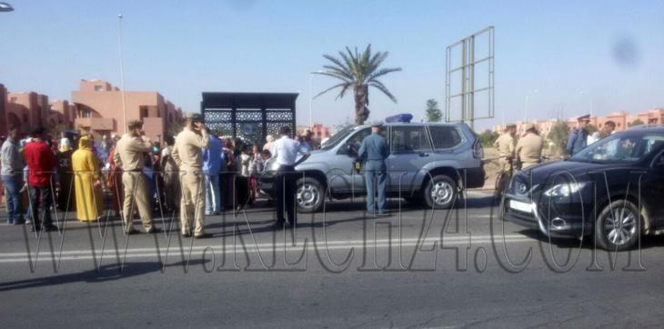 منع مسيرة تلاميذ واوليائهم على الأقدام من تامنصورت في إتجاه مراكش + صور