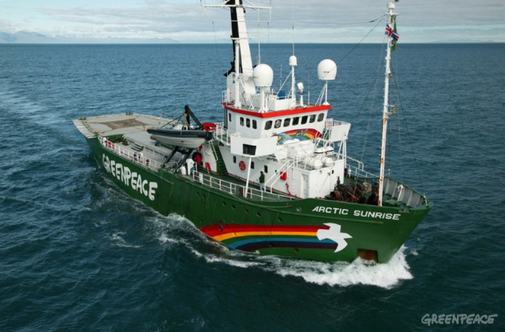 """سفينة """"غرين بيس"""" تصل المغرب لمواكبة قمة المناخ بمراكش"""