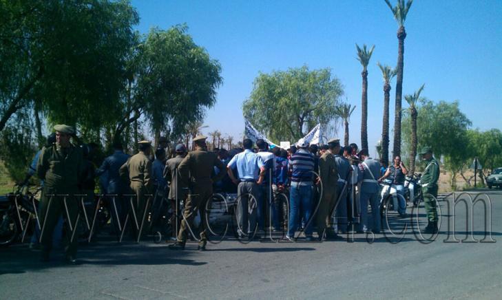 فوضى في دورة أكتوبر بجماعة واحة سيدي ابراهيم ضواحي مراكش والسلطة المحلية ترفع الجلسة + صور