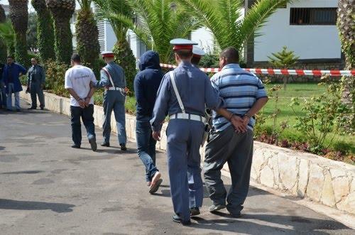 حصري: درك سعادة يعتقل لصين متلبسين بتنفيذ سرقة من داخل شاحنة بالسويهلة ضواحي مراكش