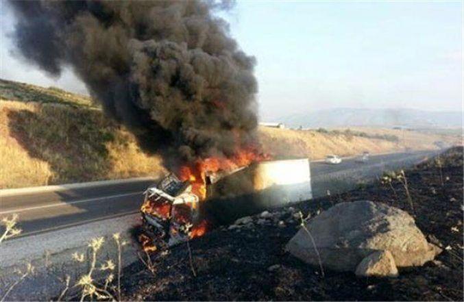 النيران تلتهم شاحنة كبيرة لنقل البضائع على الطريق السيار بين أكادير ومراكش