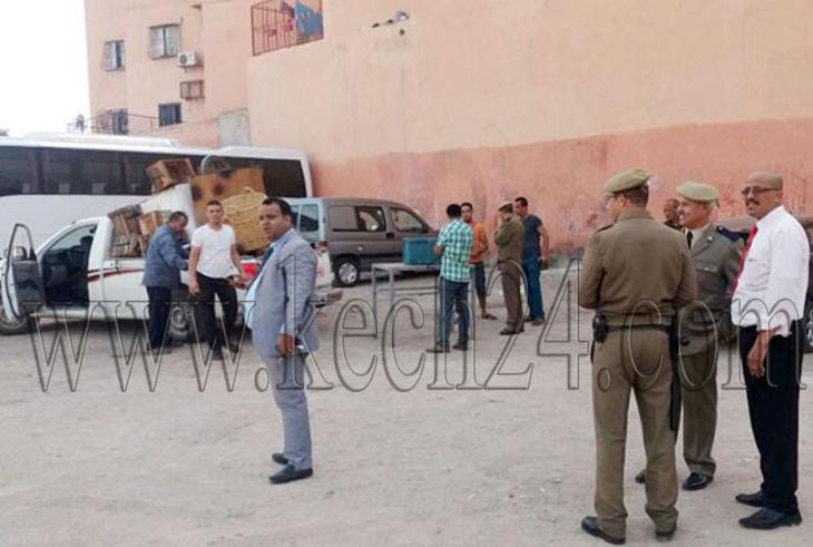السلطة المحلية بالملحقة الإدارية أزلي بمراكش تشن حملة لتحرير الملك العمومي + صور