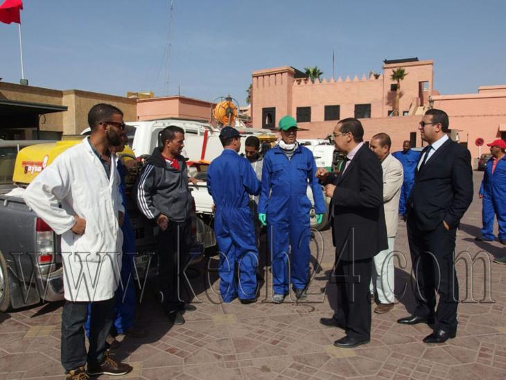 مكتب حفظ الصحة بمراكش يقوم بحملة واسعة لمحاربة النواقل بجامع الفنا ومحيطها + صور