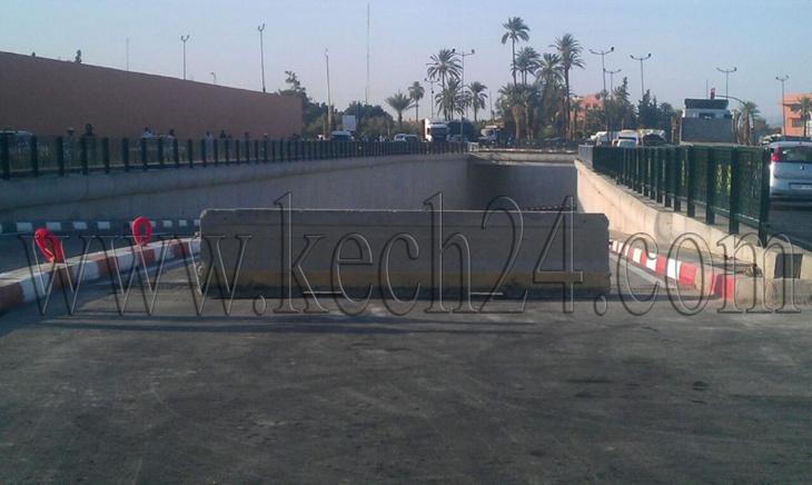 عاجل: سلطات مراكش تتراجع عن فتح نفق مدارة باب الخميس في وجه حركة المرور + صور