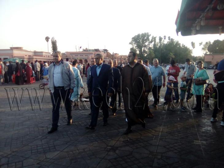 عاجل: الوالي لبجيوي يزور ساحة جامع الفنا بالمدينة العتيقة لمراكش + صور