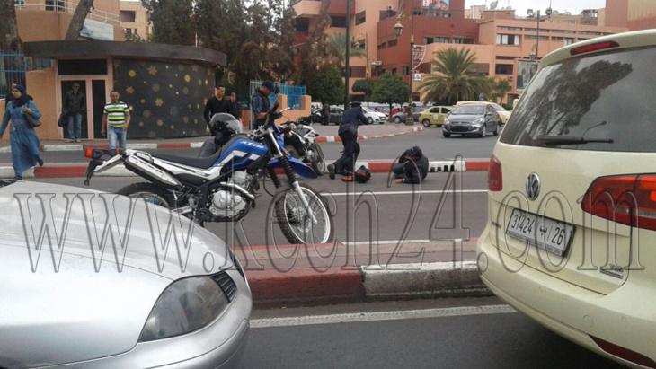 إصابة عنصر أمن في حادثة سير بمراكش