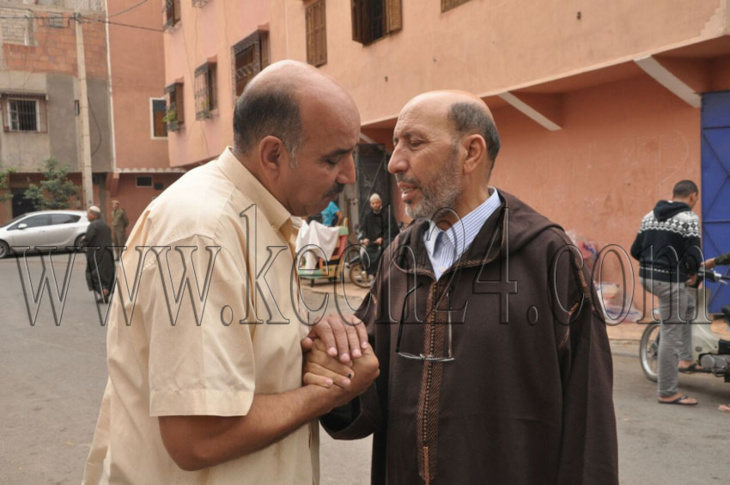 مواراة جثمان شقيق عمدة مراكش الثرى في موكب جنائزي مهيب + صور