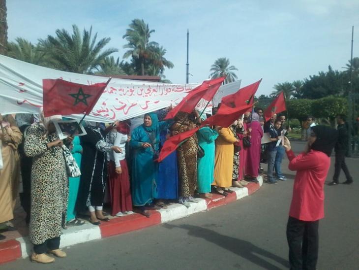 ساكنة دواوير بجماعة الويدان تنقل احتجاجاتها إلى أمام مقر ولاية مراكش + صور