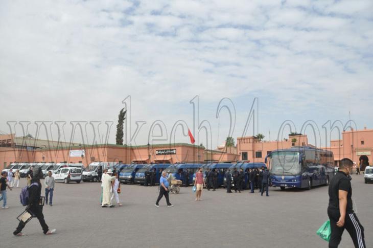 عاجل: إنزال أمني كبير بجامع الفنا ومحيط مسجد الكتبية بمراكش + صور