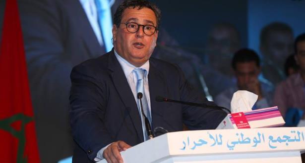 عزيز أخنوش رئيسا لحزب التجمع الوطني للأحرار